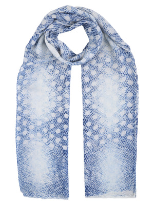 Blue Abstract Cotton Stole
