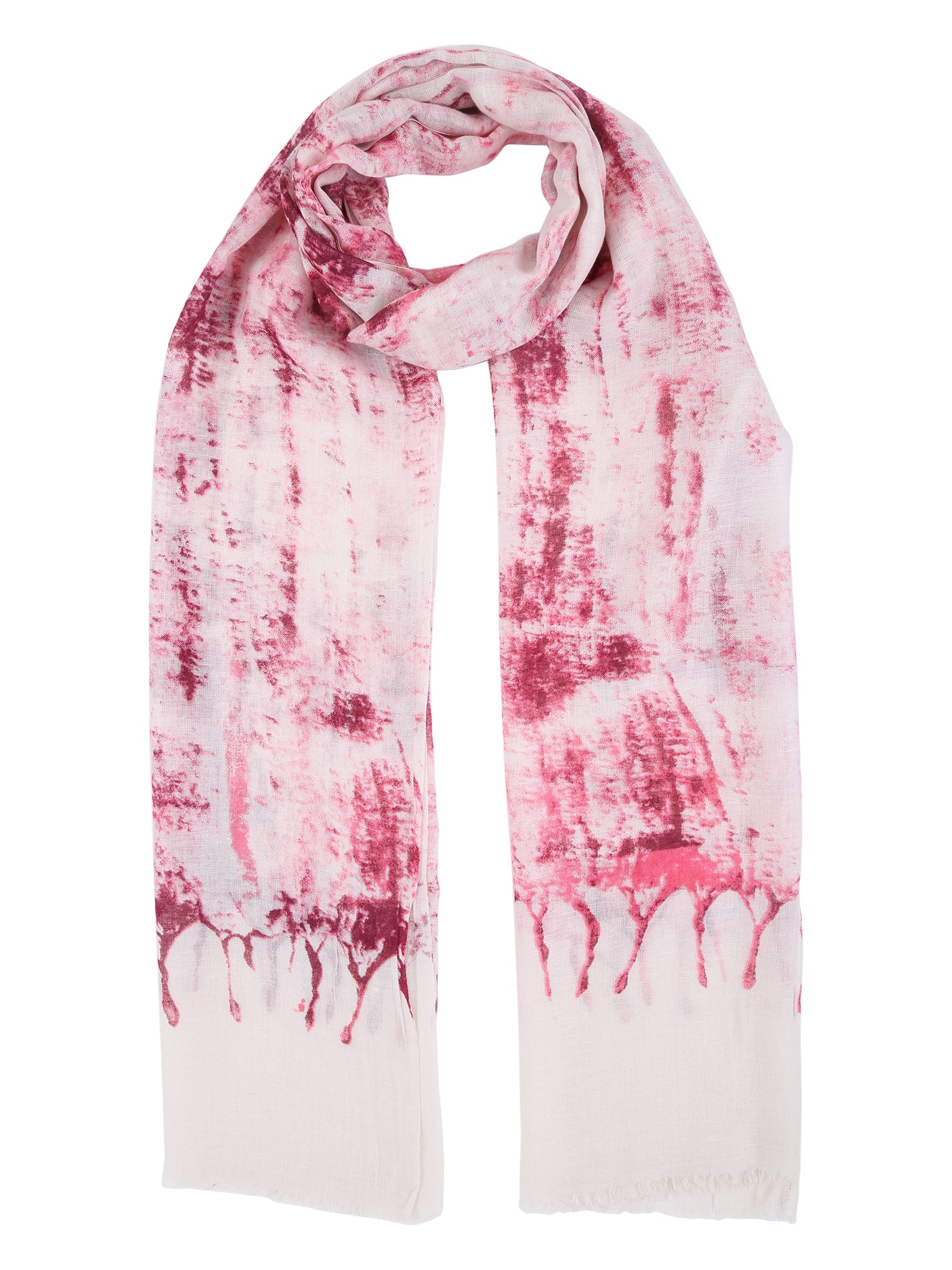 Pink Abstract Cotton Stole