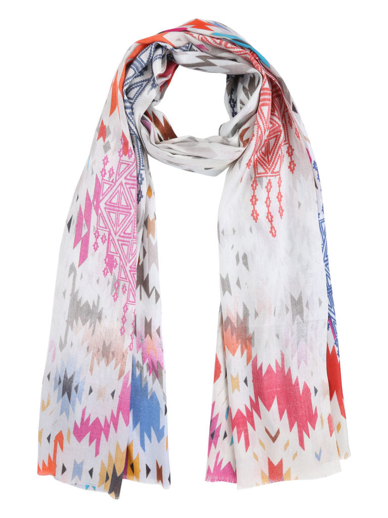 Multicolour Abstract Printed Silk Stole