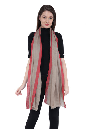 Plain Border Fine Wool Stole