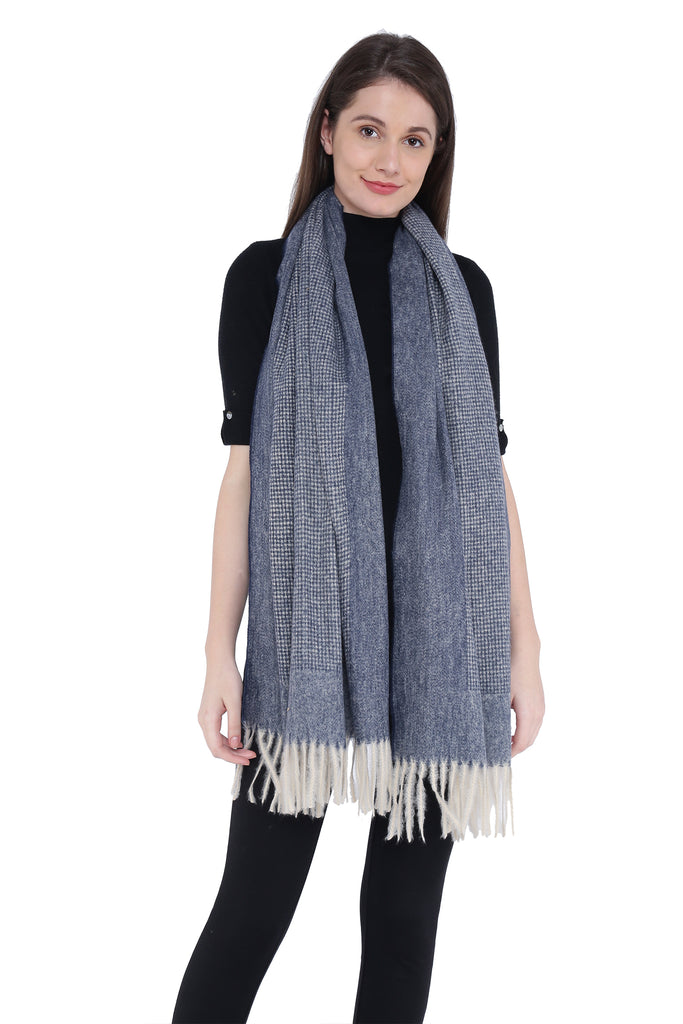 Knitted Nylon Wool Stole