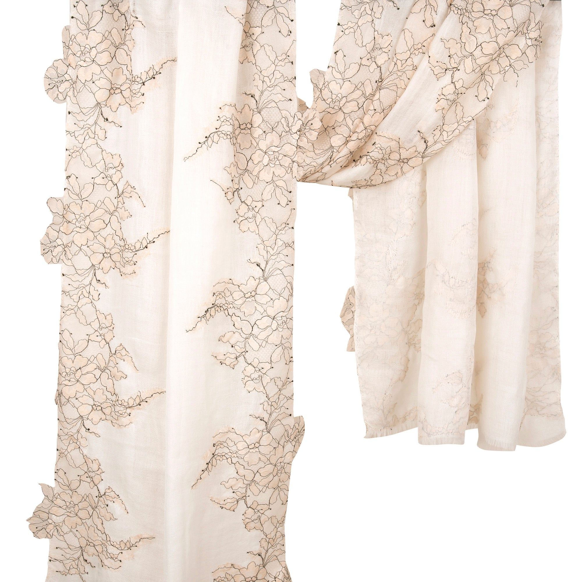 French Lace Fine Wool Stoles