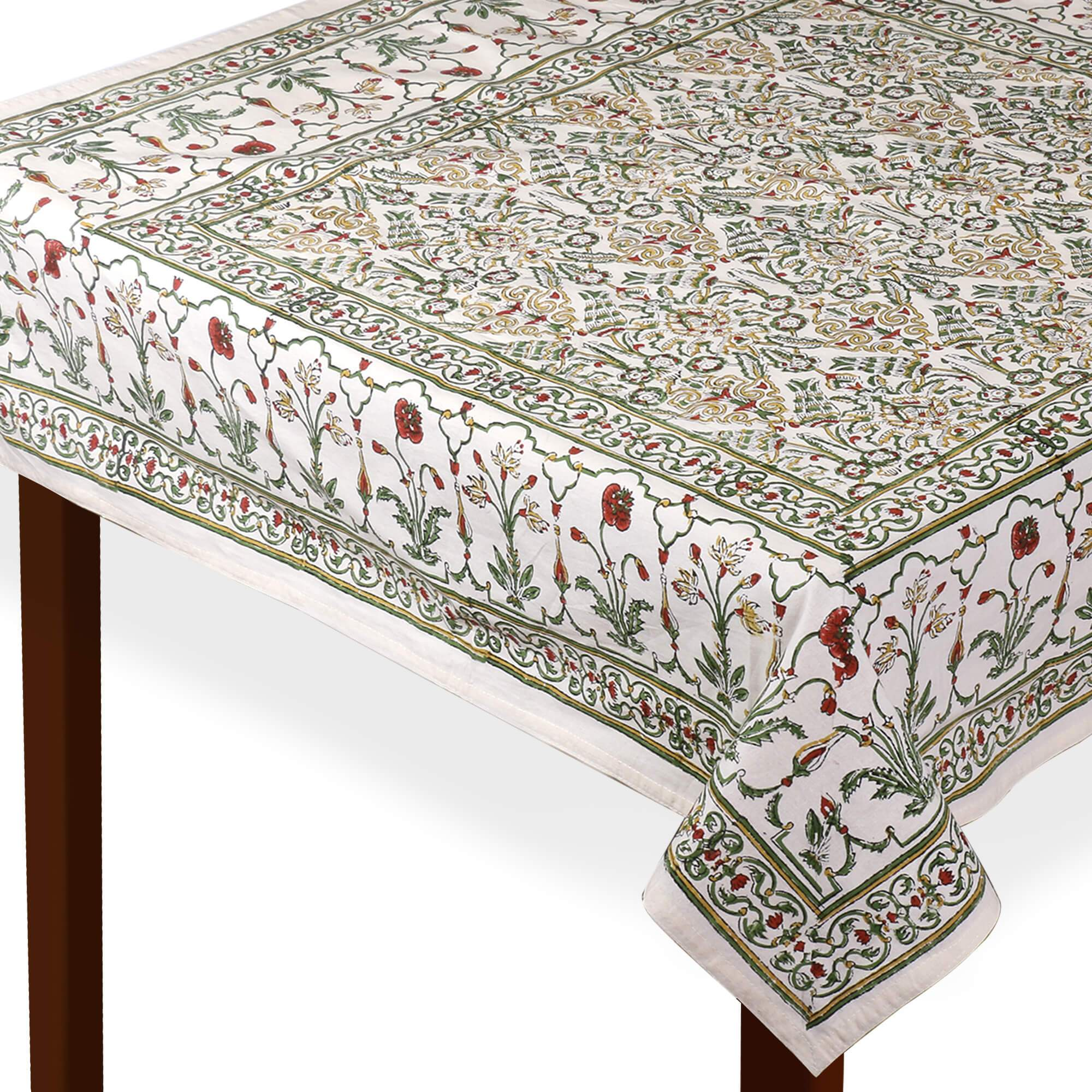 Jaipuri Square Cotton Table Cover - 7868