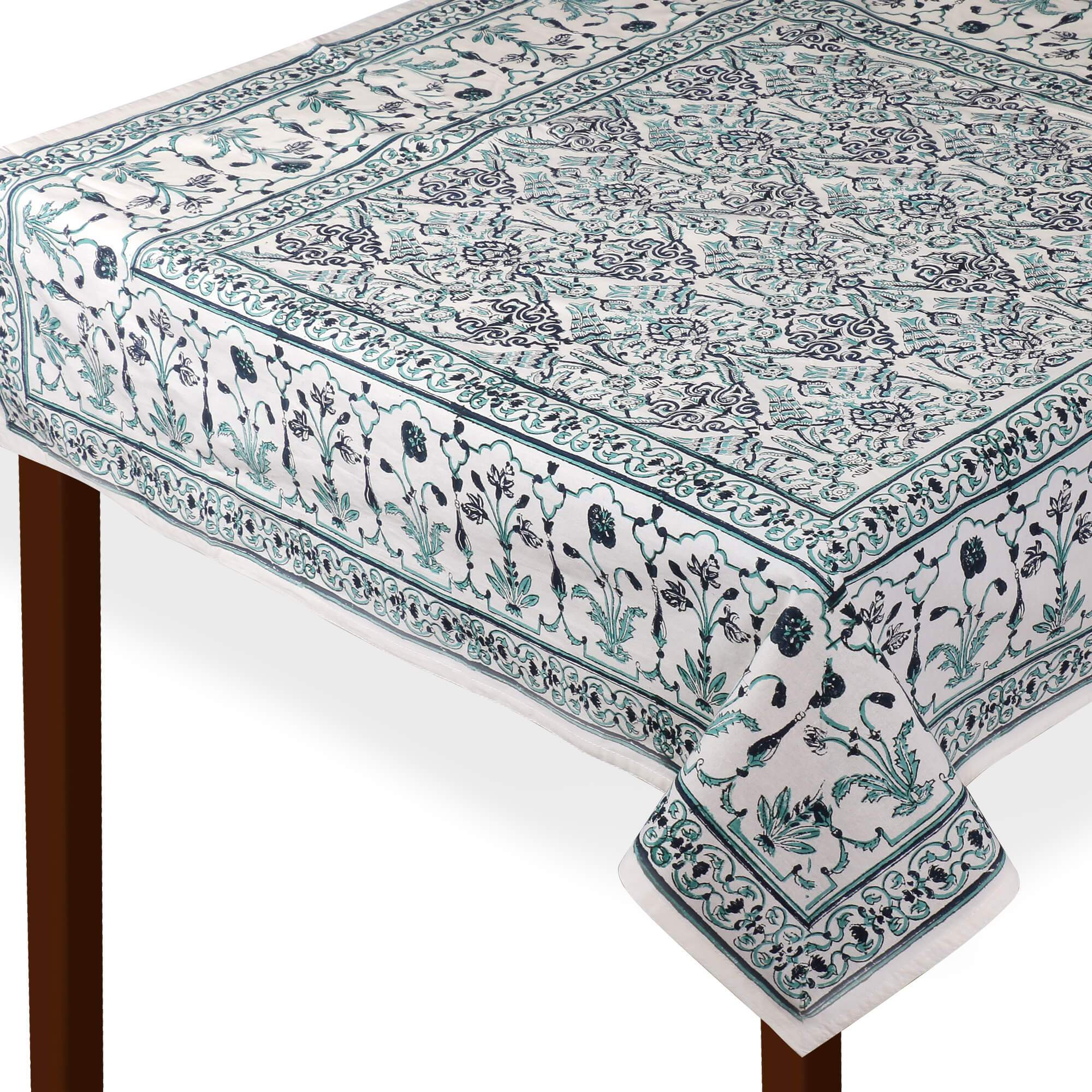 Jaipuri Square Cotton Table Cover - 7869