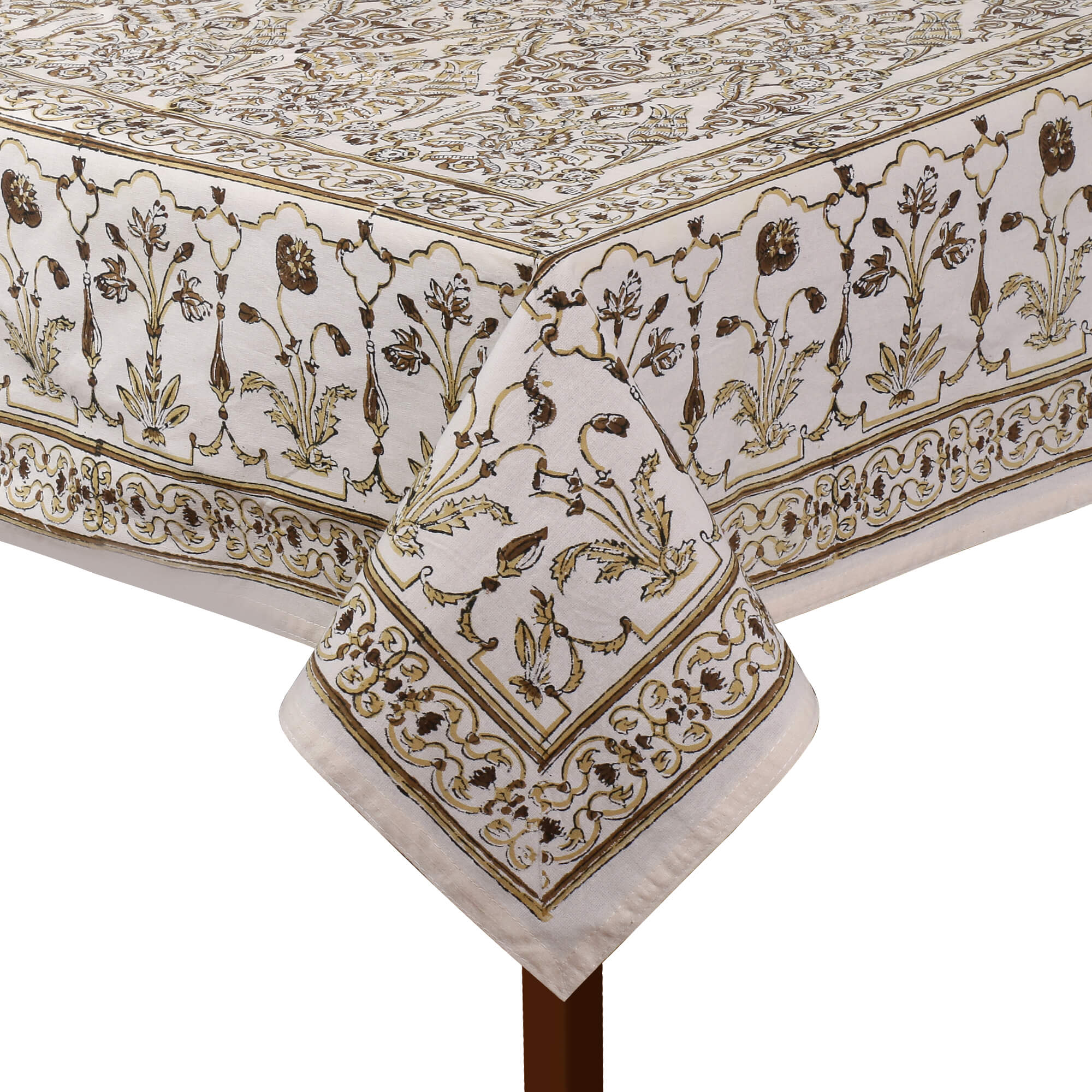 Jaipuri 8 Seater Cotton Table Cover - 8008