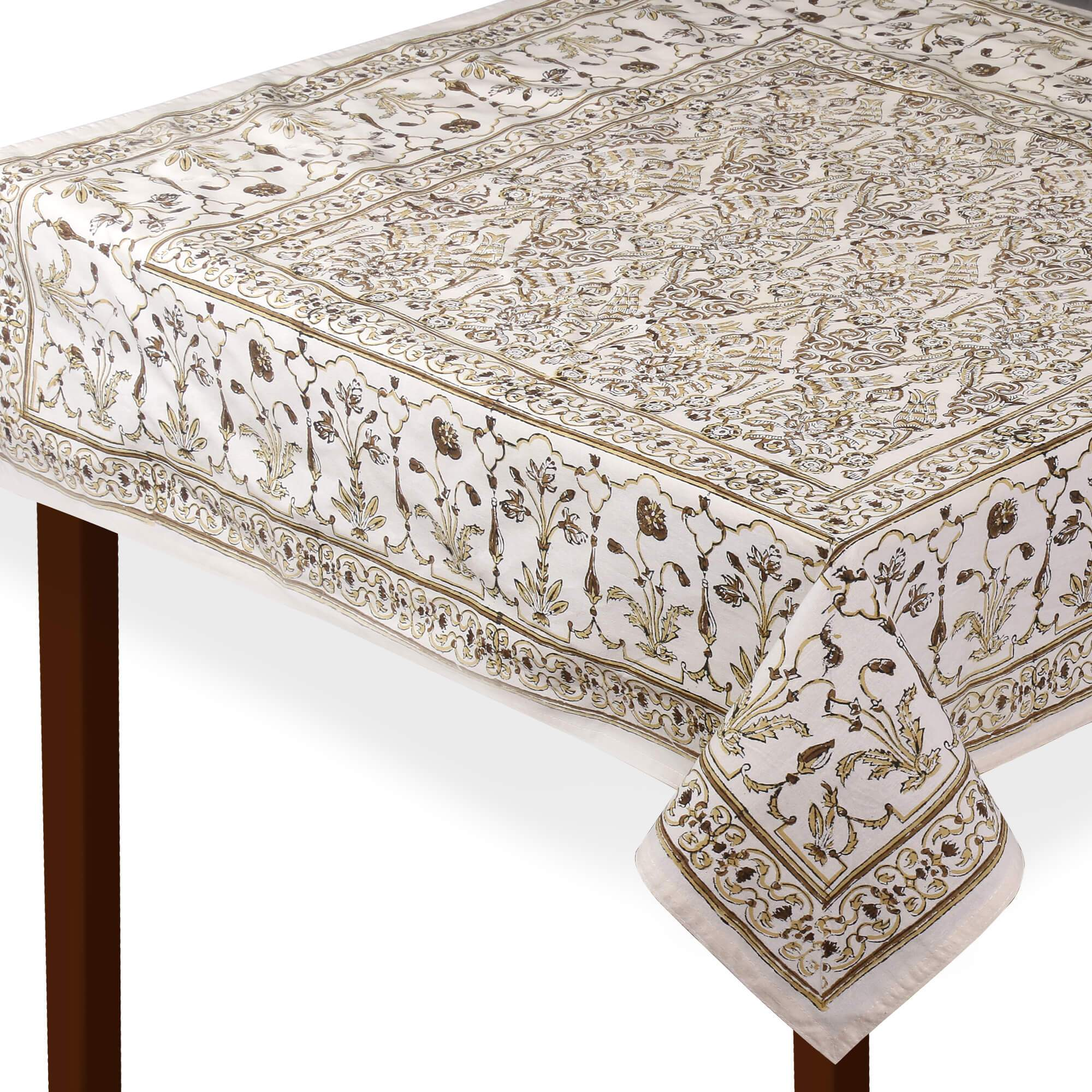 Jaipuri 6 Seater Cotton Table Cover - 7964