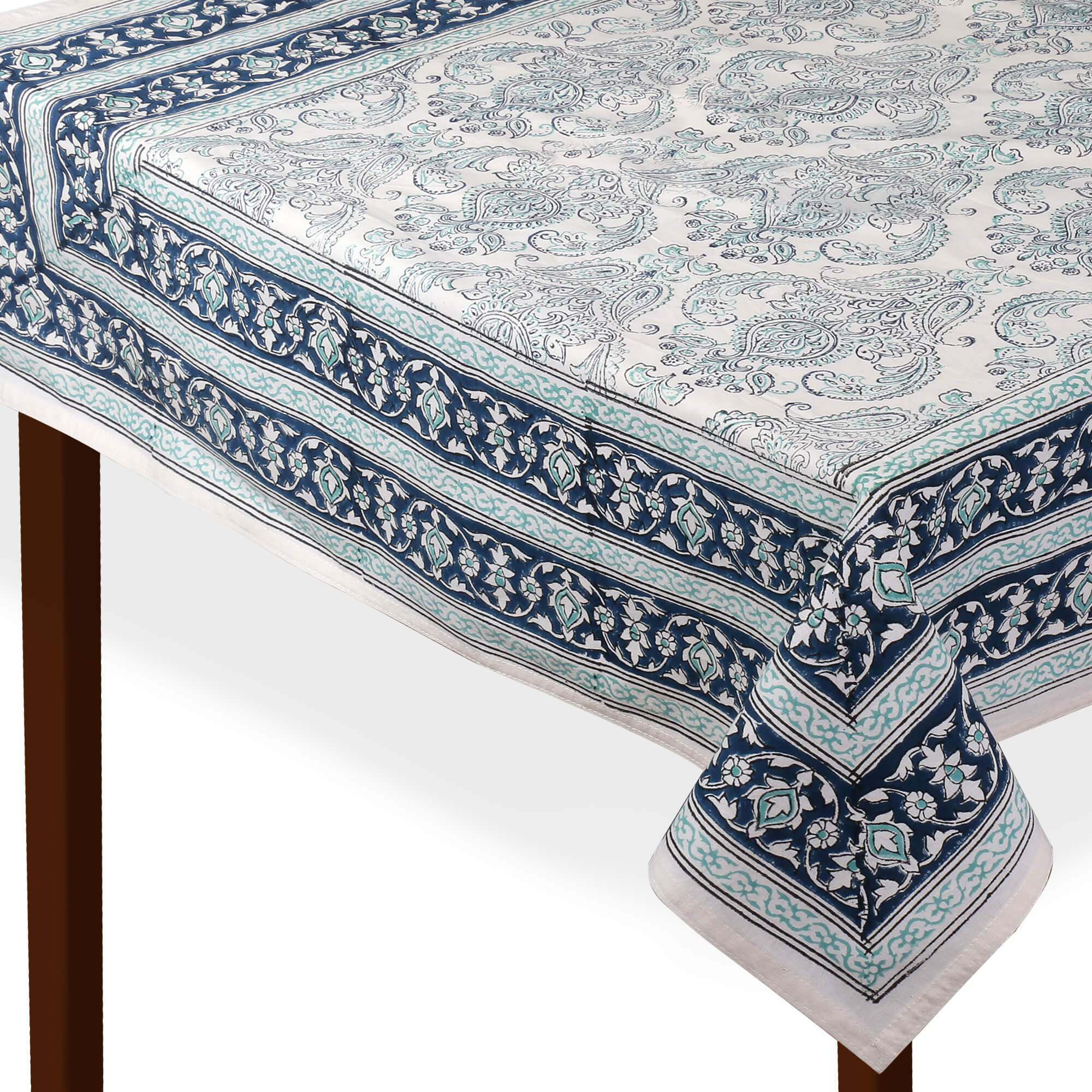 Jaipuri 6 Seater Cotton Table Cover - 7967