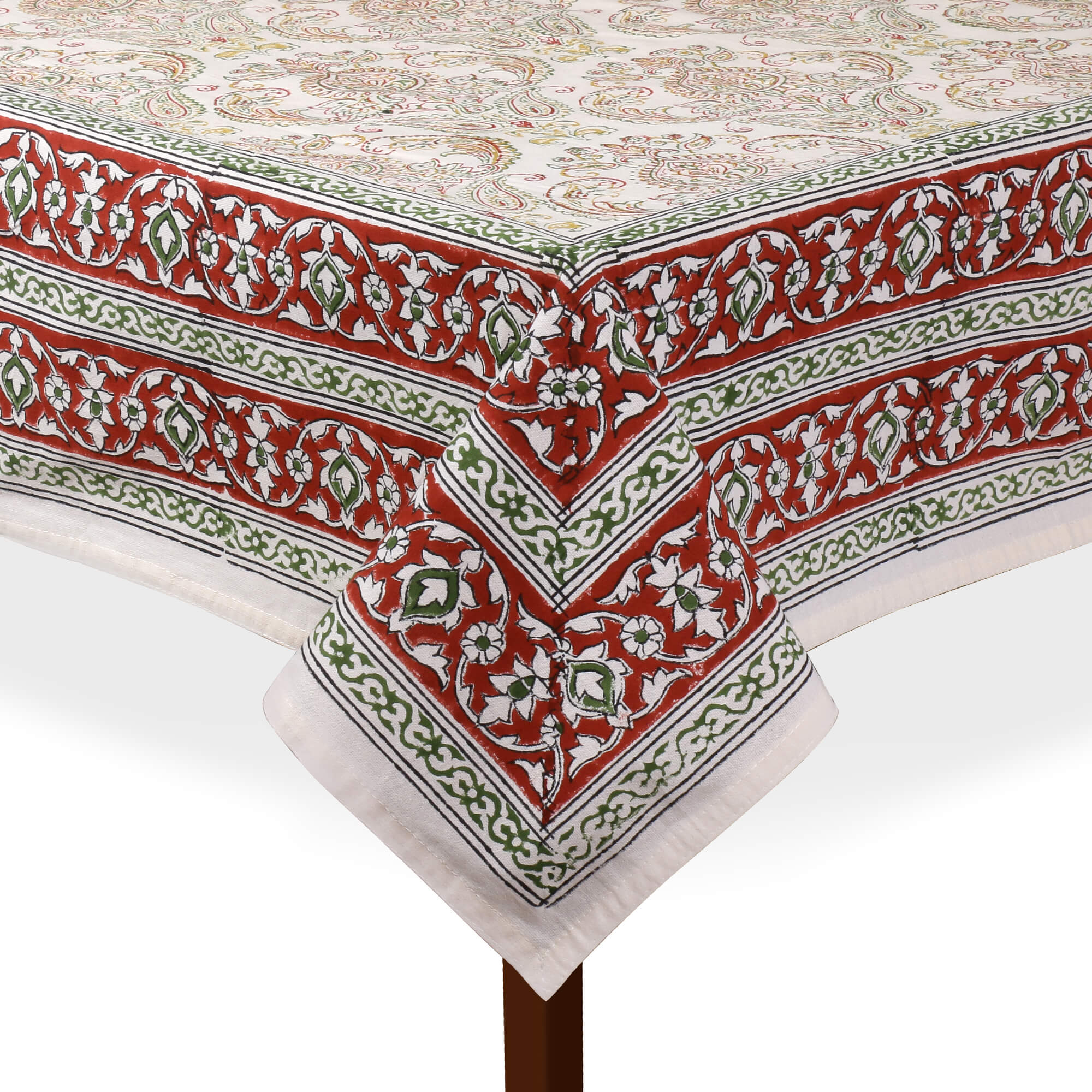 Jaipuri 8 Seater Cotton Table Cover - 8002
