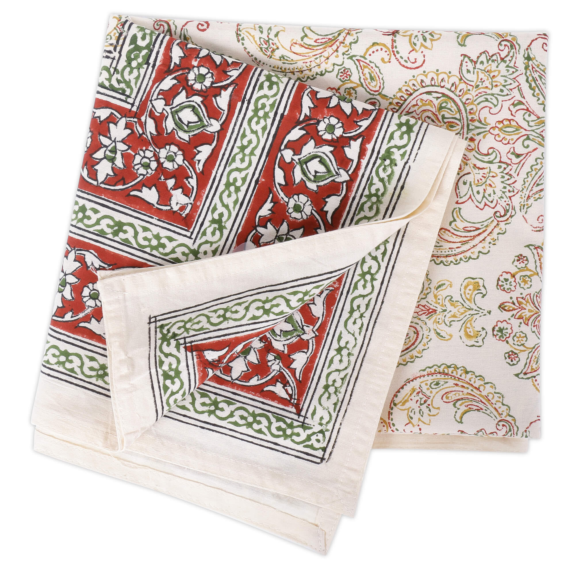 Jaipuri Square Cotton Table Cover - 7875