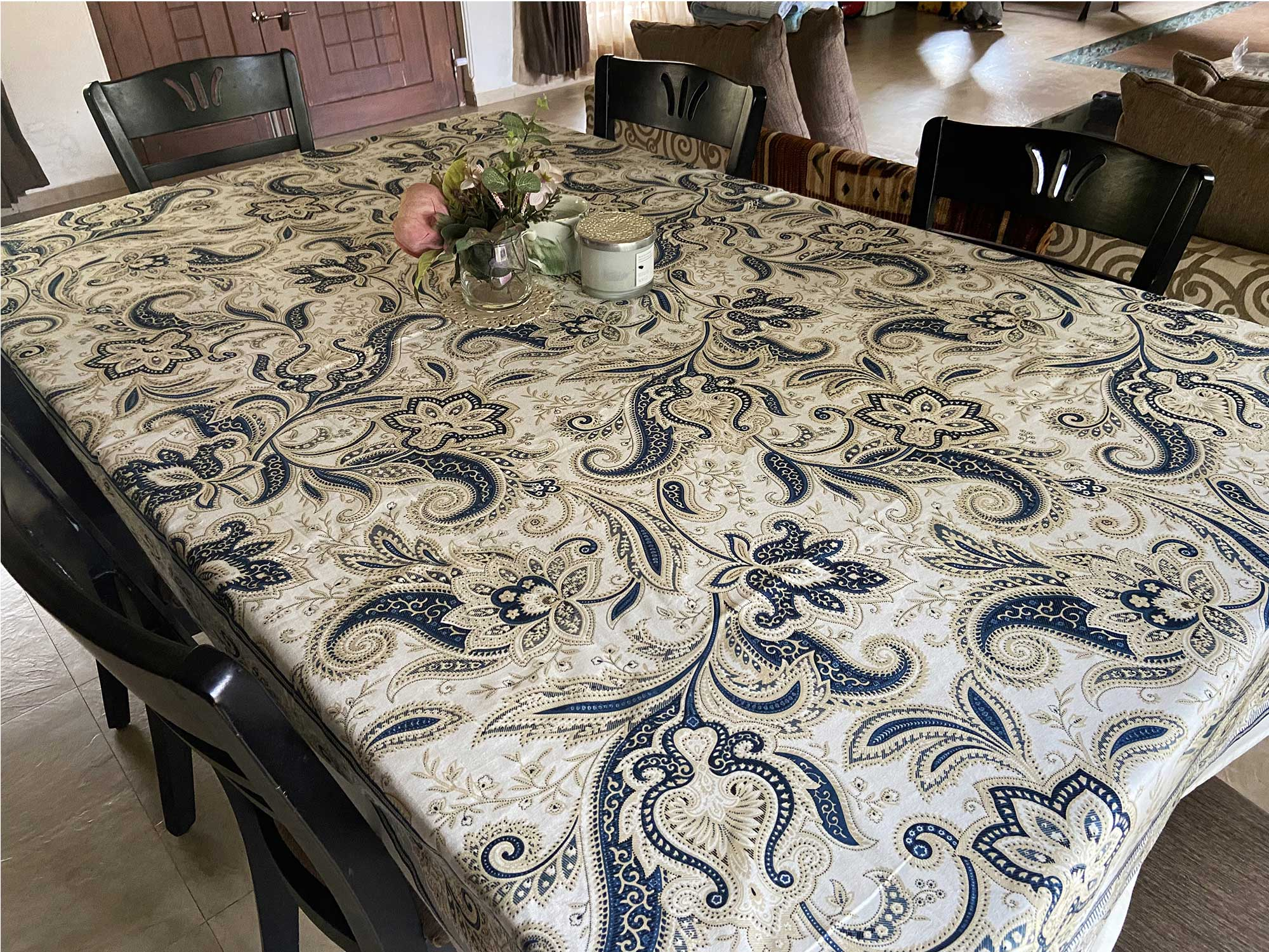 Jaipuri 6 Seater Cotton Table Cover  - 7907