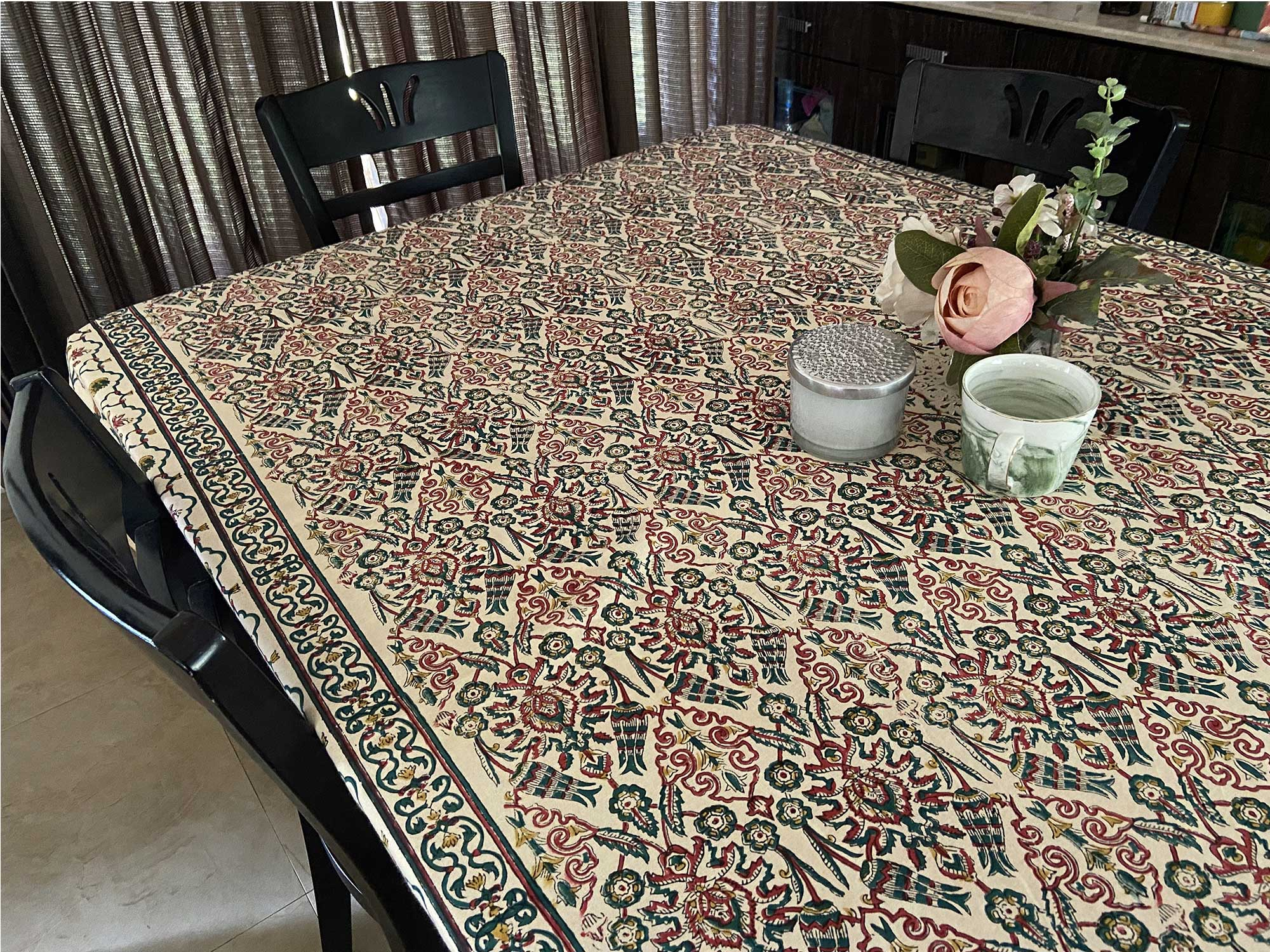 Jaipuri 6 Seater Cotton Table Cover  - 7915