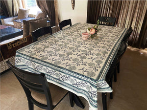 Jaipuri 8 Seater Cotton Table Cover  - 8000