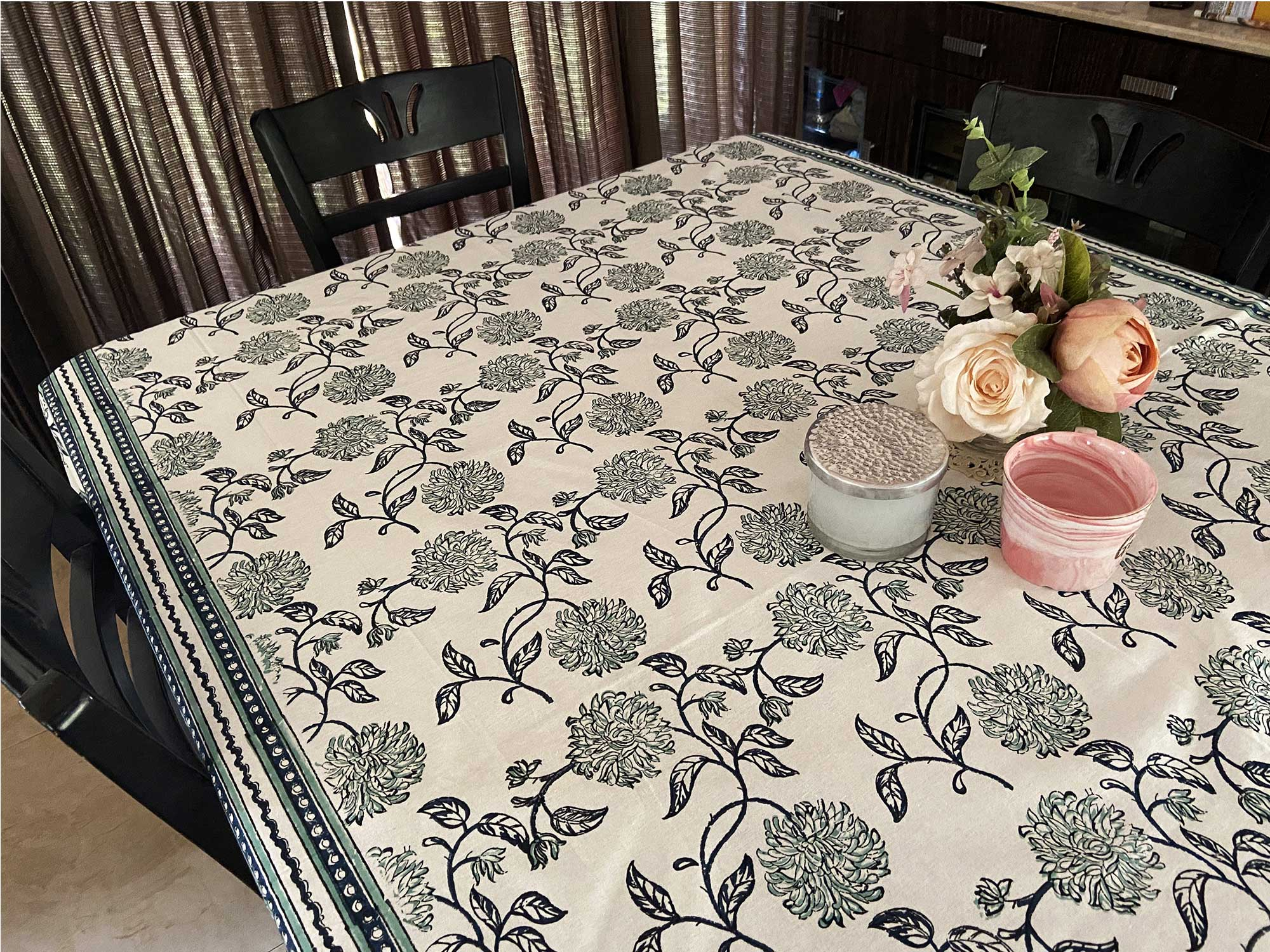Jaipuri Cotton Table Cover - 6 Seater - 12