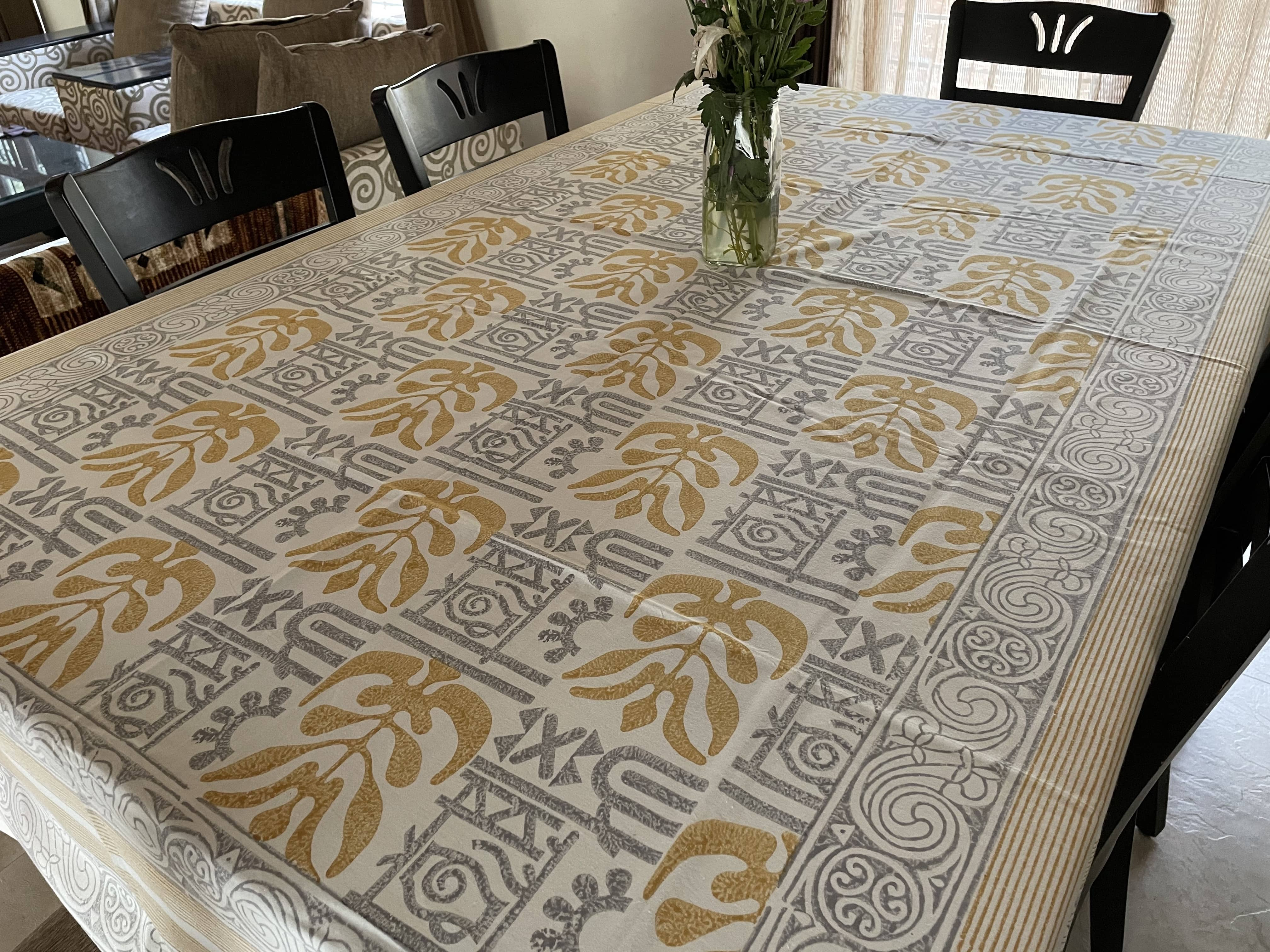 Jaipuri 6 Seater Cotton Table Cover - 8019