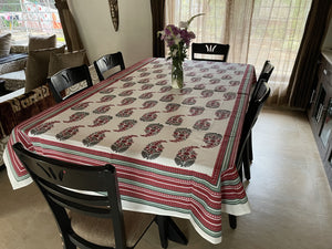 Jaipuri 6 Seater Cotton Table Cover - 8026