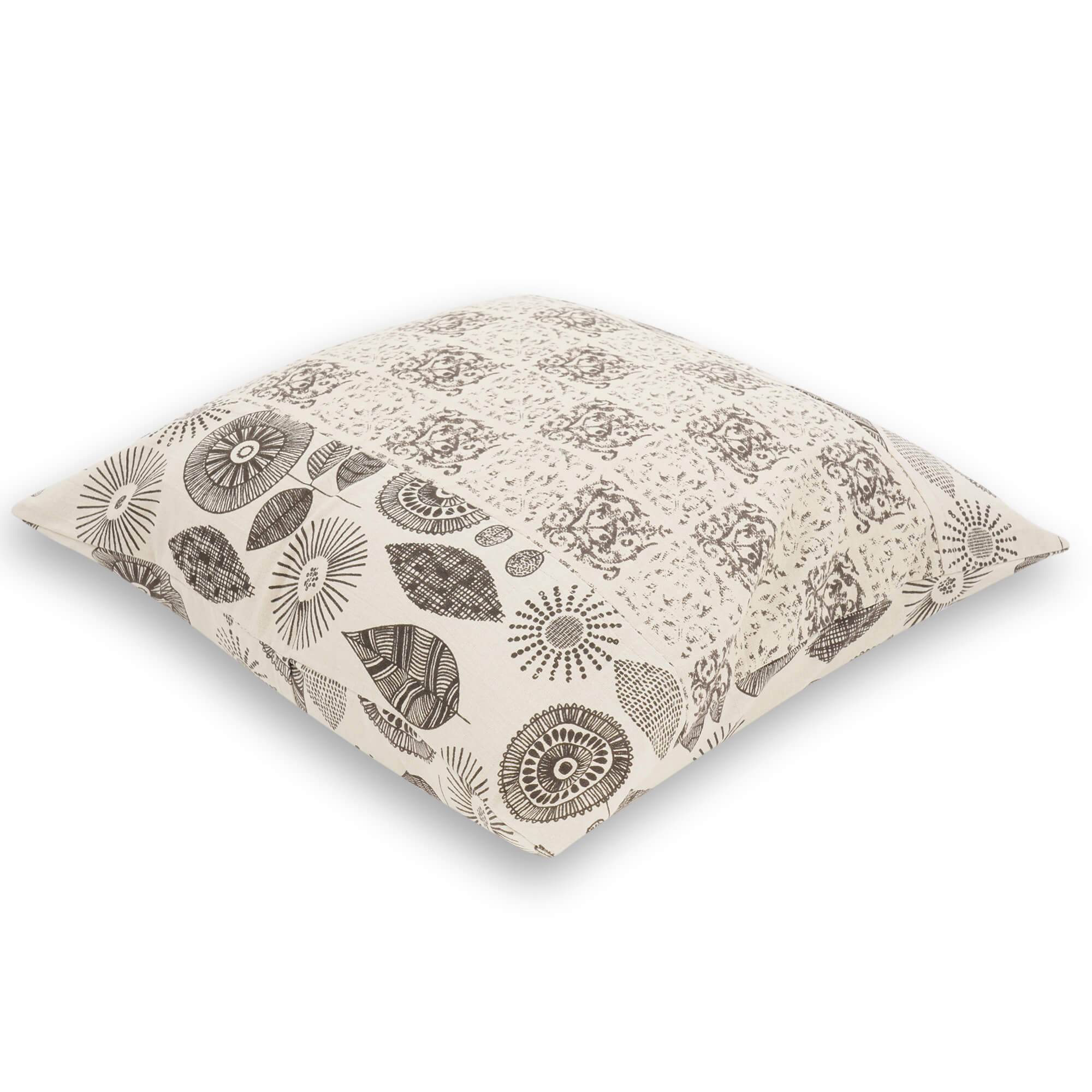 Ajrakh Hand Block Printed Cotton Cushion Cover - 8058
