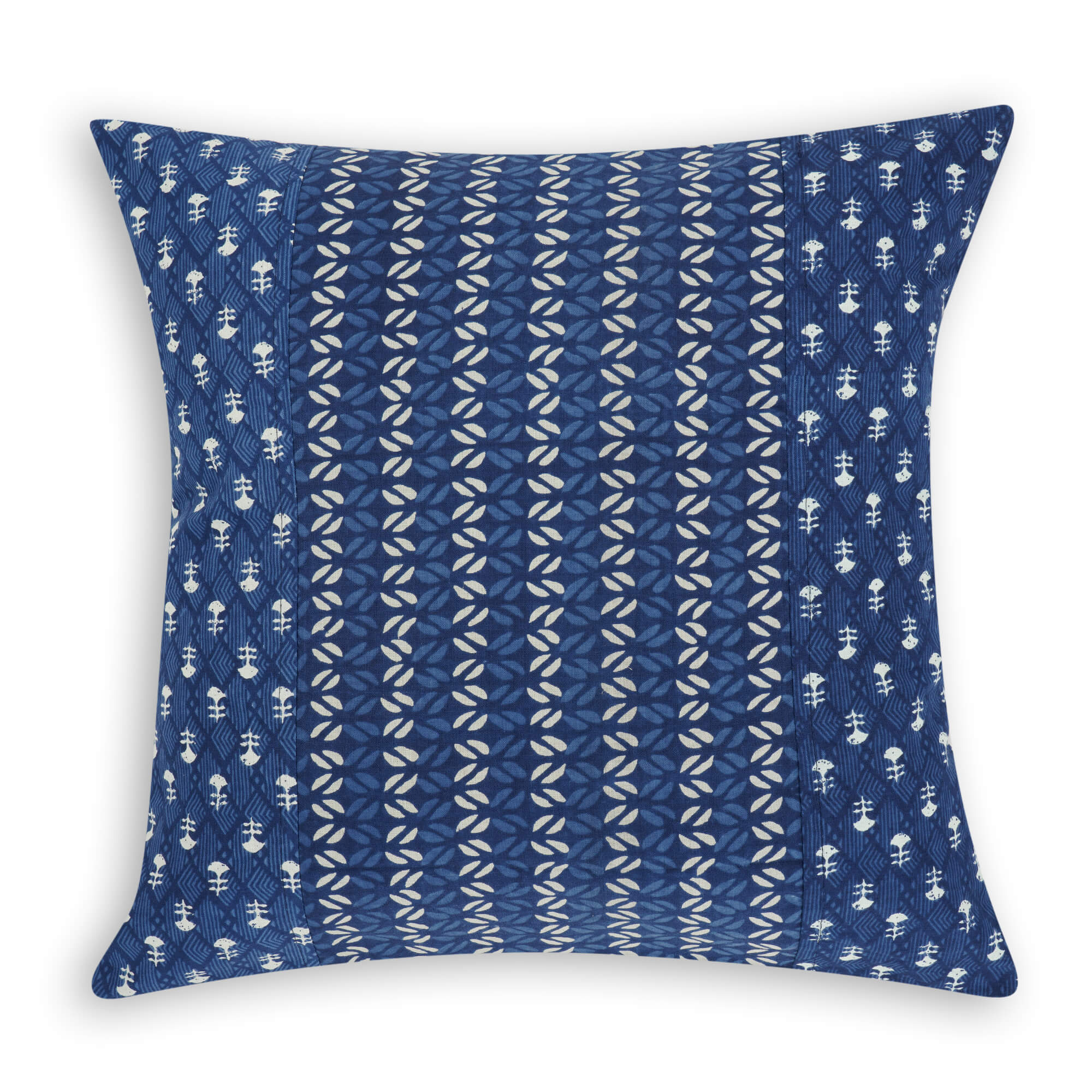 Ajrakh Hand Block Printed Cotton Cushion Cover - 8071