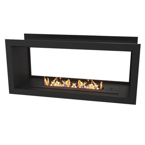 Flueless Gas Fireplace, Double Sided Built-In, Black - MultiFire - Fireplace Specialists