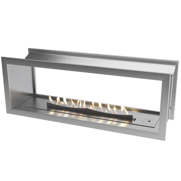 Flueless Gas Fireplace, Double Sided Built-In, Stainless Steel - MultiFire - Fireplace Specialists