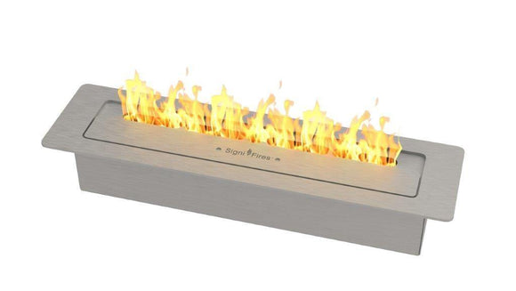 Slimline Bio Fuel Fireplace, Stainless Steel