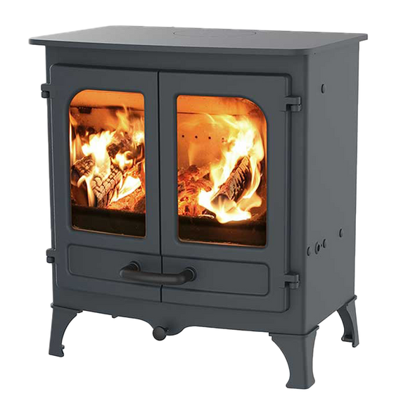 Charnwood Island II - Wood and Multi-Fuel Burning - Cast Iron Fireplace - Front