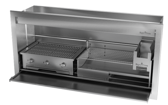 Combo Braai, Wood & Gas, Stainless Steel, 5 Sizes