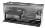Combo Braai, Wood & Gas, Stainless Steel, 5 Sizes - MultiFire - Fireplace Specialists