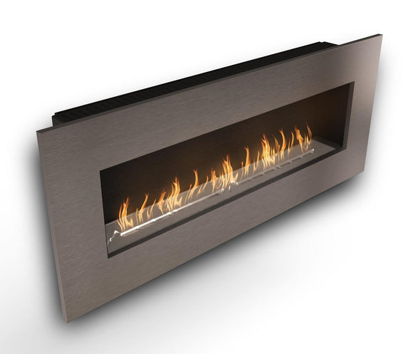 Wall Mounted Bio Fuel Fireplace, Built-In, Steel Frame