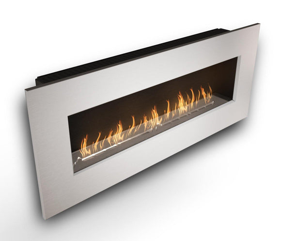 Wall Mounted Bio Fuel Fireplace, Built-In, White Frame - MultiFire - Fireplace Specialists
