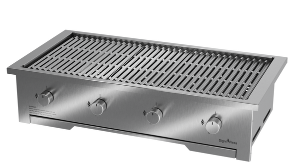 Gas Braai, Stainless Steel, 4 Sizes - MultiFire - Fireplace Specialists