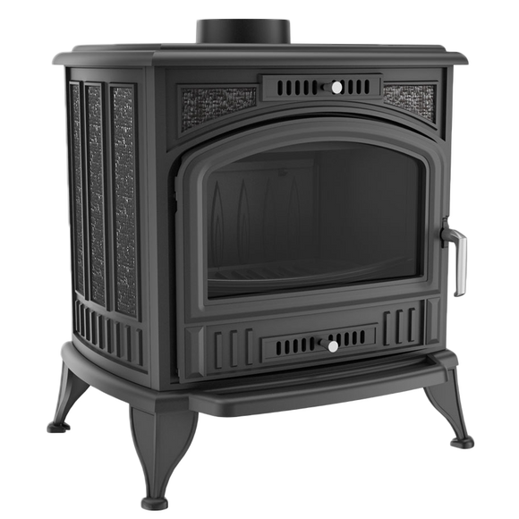 Kratki K6 - Wood, Cast Iron, Freestanding Fireplace
