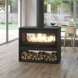 Lacunza - Nickel 1000 Fireplace, 15kW Freestanding - MultiFire - Fireplace Specialists