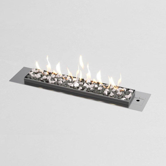Flueless Gas Fireplace, Stainless Steel, Stone - MultiFire - Fireplace Specialists