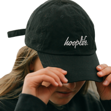 Load image into Gallery viewer, Classic Cursive Dad Hat | Black