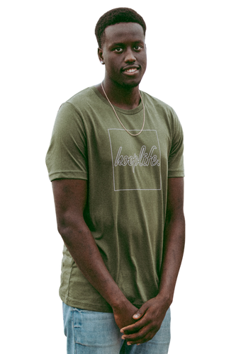 Boxed In Tee | Army Green