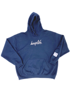 Load image into Gallery viewer, Timeless Cursive Hoodie | Navy