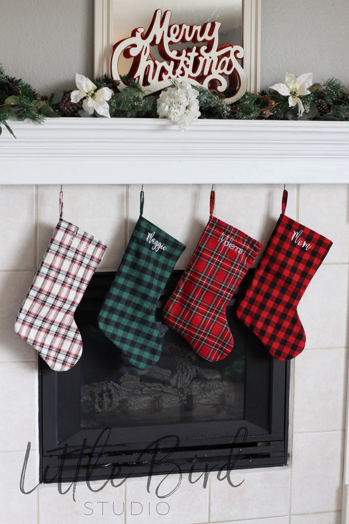 Plaid Christmas Stocking | All Plaid