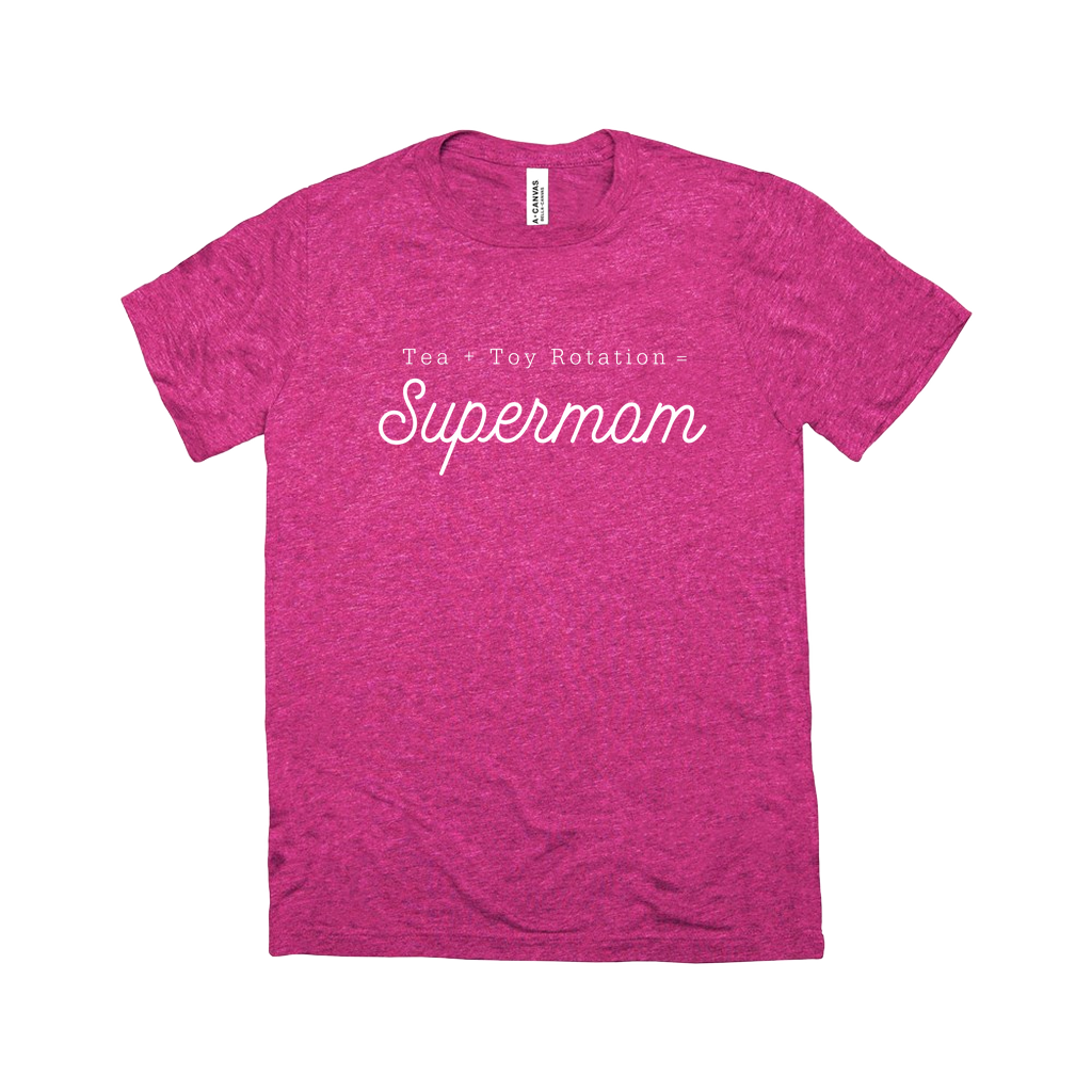 Tea + Toy Rotation = Supermom | T Shirt