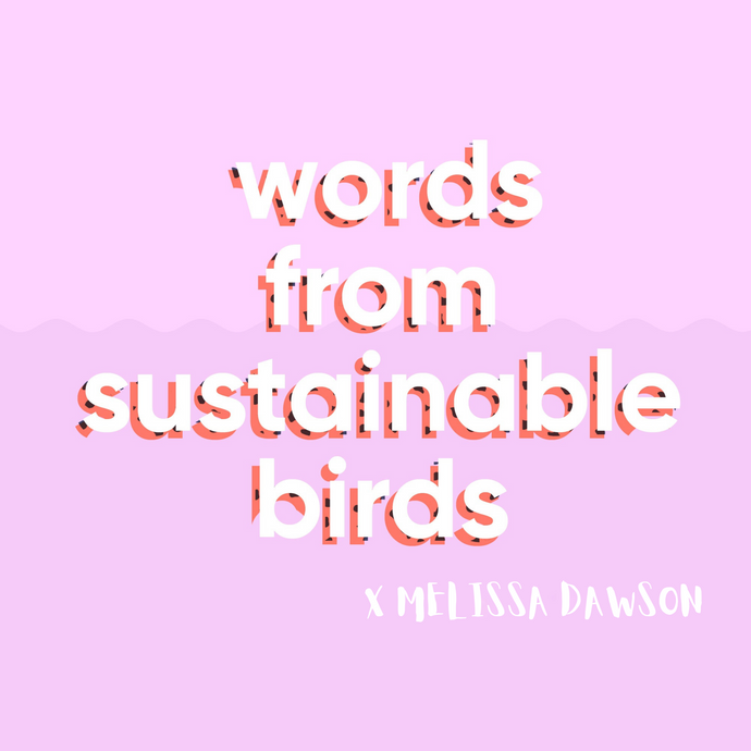 Words from Sustainable Birds X Melissa Dawson
