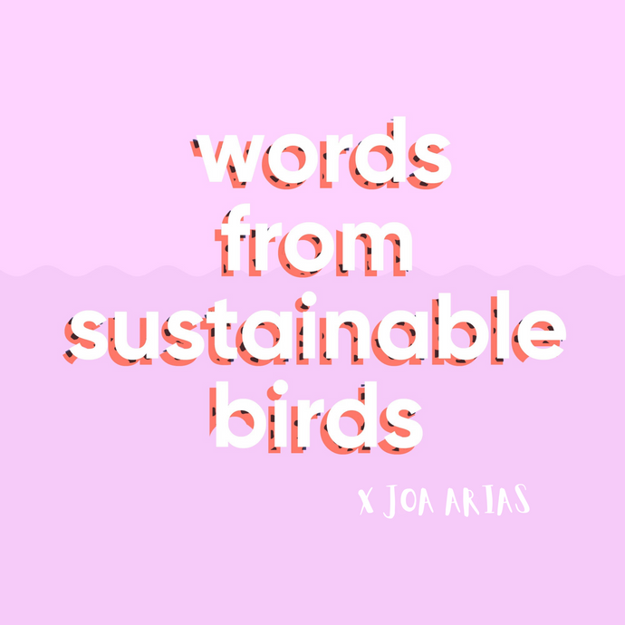 Words from Sustainable Birds X Joa Arias
