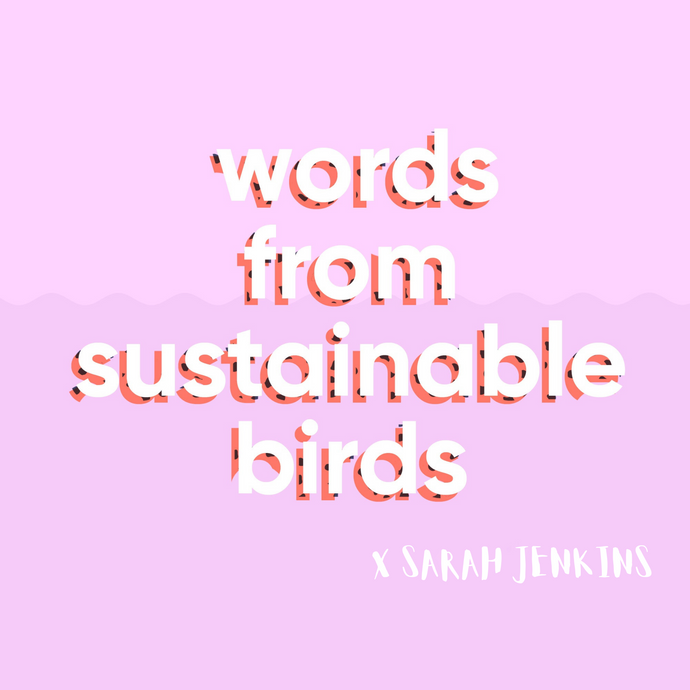 Words From Sustainable Birds - Sarah Jenkins