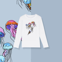 Load image into Gallery viewer, Jellyfish print l/s t-shirt white
