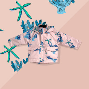 Starfish and Coral Raincoat