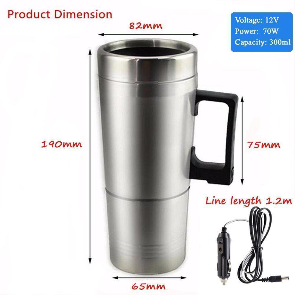 Car Stainless Heating Cup Kettle