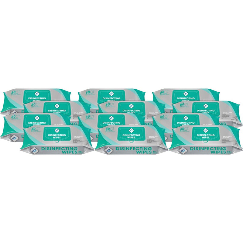 WipesPlus EPA Registered Disinfecting Surface Wipes, Kills COVID-19, 80pk, 12 Packs/Case