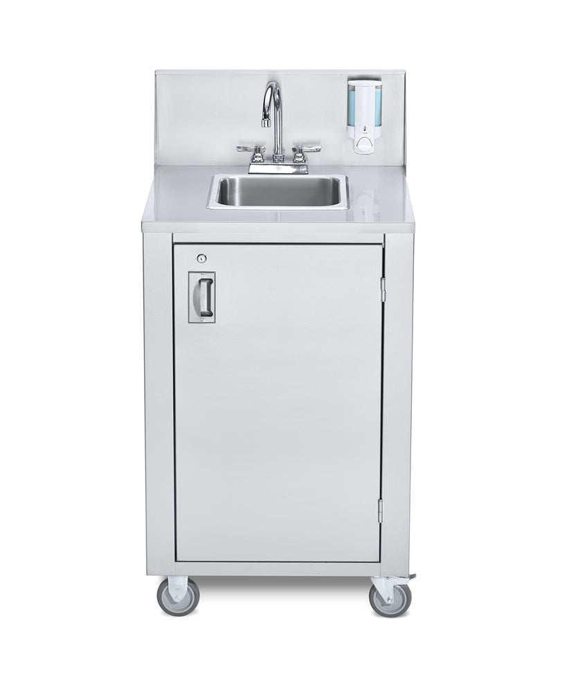 Crown Verity CVPHS-4C Portable Hand Sink, Stainless Steel, Cold Water Only, Compact Spacesaver
