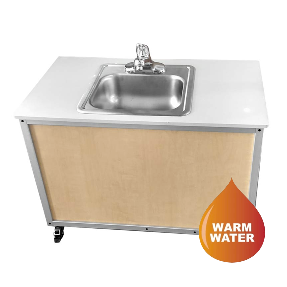 "Monsam Child's Height Single Basin Portable Sink: 25"" PSE-2006 (Now NS-006)"