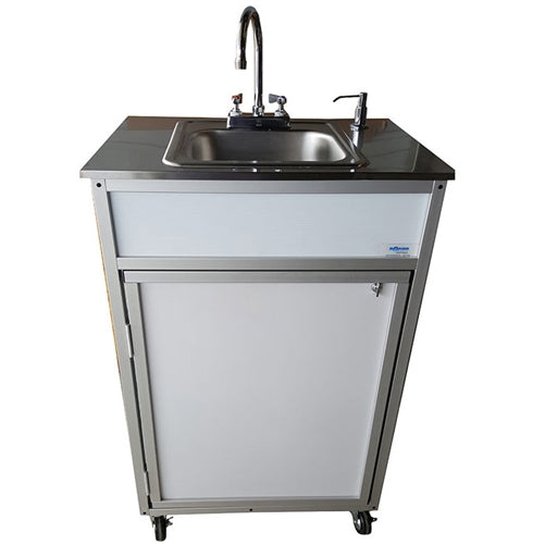 "Monsam Stainless Steel Top Deep Single-Basin 10"" Portable Sink PSE-009SS"