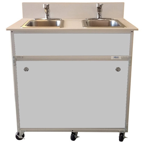 Monsam NSF Certified Two Bowl Hand Washing Portable Sink NS-002