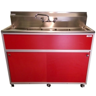 Monsam Commercial Three Bowl Portable Sink PSE-2003SD